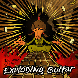 The way of the exploding guitar - album cover Mr. Fastfinger Mika Tyyskä
